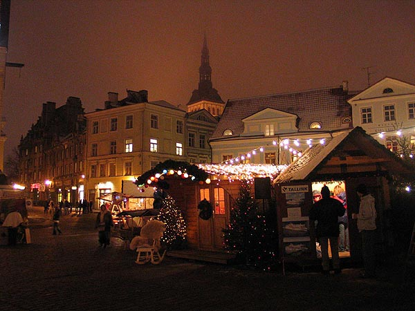 Christmas market in Old Town of Tallinn