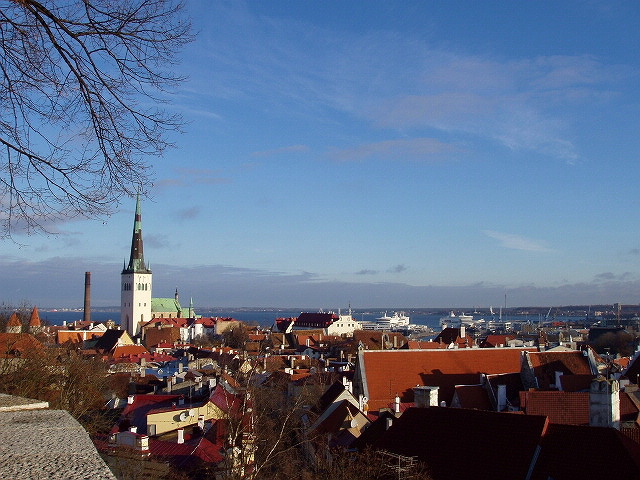 Rooftops of Old Town of Tallinn